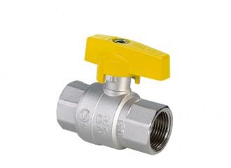 ORION Kurek kulowy pełnoprzelotowy do gazu zmotylkiem aluminiowym (MAl), wersja nakrętno-nakrętna