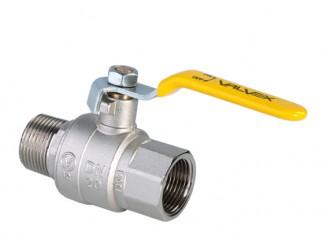 ORION Kurek kulowy pełnoprzelotowy do gazu zdźwignią stalową (DAI), wersja nakrętno-wkrętna