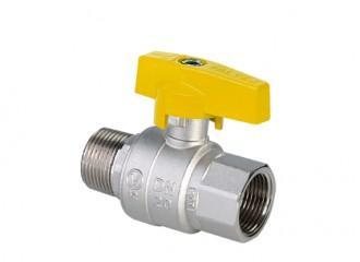 ORION Kurek kulowy pełnoprzelotowy do gazu zmotylkiem aluminiowym (MAl), wersja nakrętno-wkrętna