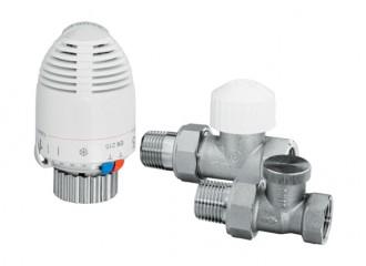 VECTOR MAX Zestaw termostatyczny prosty duży, niklowany
