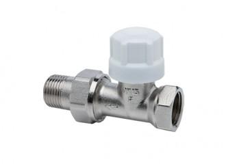 IRIS Zawór termostatyczny prosty, niklowany