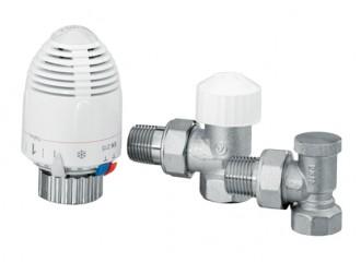 VECTOR MAX Zestaw termostatyczny kątowy duży, niklowany