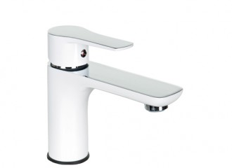 DALI WHITE Washbasin mixer with pop-up drain