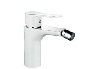 DALI WHITE Bidet mixer with manual pop-up drain