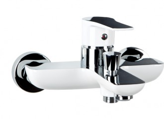 DALI WHITE Wall mounted bath mixer