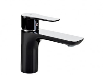 DALI BLACK Washbasin mixer with pop-up drain