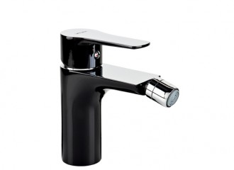 DALI BLACK Bidet mixer with manual pop-up drain