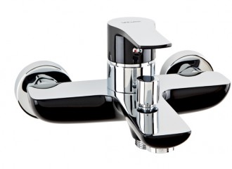 DALI BLACK Wall mounted bath mixer