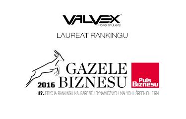 VALVEX S.A. w rankingu najdynamiczniej rozwijających się małych i średnich firm 2016 roku!