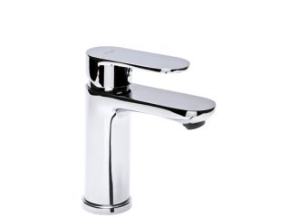 TUBE Washbasin mixer with pop-up drain