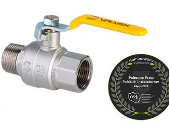ORION Gas ball valve with steel lever (female-male version)