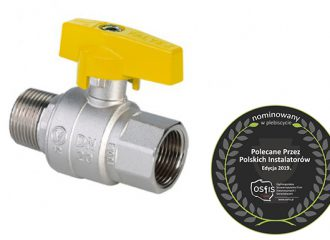 ORION Gas ball valve with aluminium butterfly handle (female-male version)