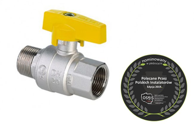 ORION Gas ball valve with aluminium butterfly handle (female
