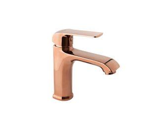AURORA ROSE GOLD Stojeća baterija za umivaonik sa ispustom
