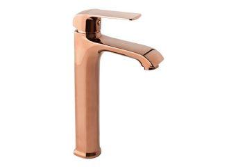AURORA ROSE GOLD Stojeća baterija za umivaonik sa automatskim čepom (visoka)