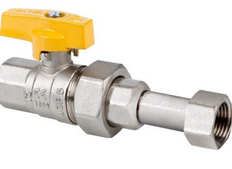 ORION Gas ball valve with swivel nut and aluminium butterfly