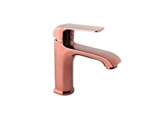 AURORA ROSE GOLD Washbasin mixer with pop-up drain