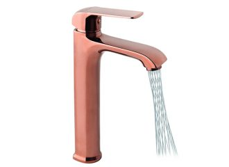 AURORA ROSE GOLD Washbasin high mixer + Areator MIKADO
