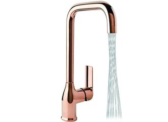 AURORA ROSE GOLD Standing kitchen mixer with side lever + Areator MIKADO