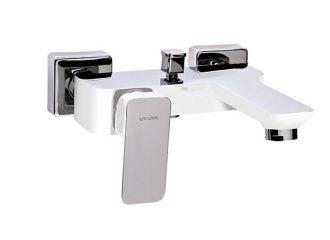 LOFT WHITE Baterie pentru cadă/duș cu montaj pe perete