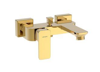 LOFT GOLD Baterie pentru cadă/duș cu montaj pe perete
