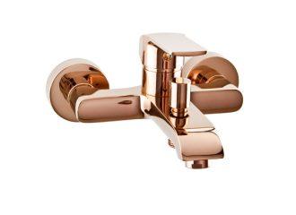 AURORA ROSE GOLD Baterie pentru cadă/duș cu montaj pe perete